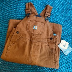 NWT Flannel-lined Carhartt Overalls 12M